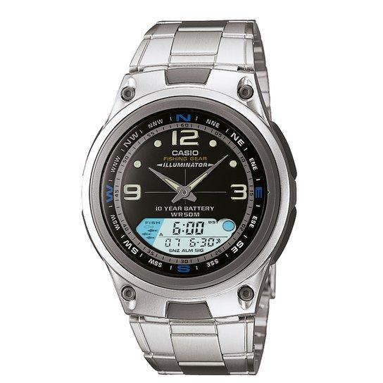 22b0d9112a4 Relógio Casio Analógico Digital AW-82D-1AVDF - Prata
