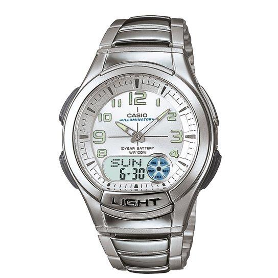 9c732492646 Relógio Casio Analógico Digital AQ-180WD-7BVDF - Prata