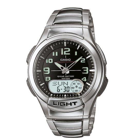 d6f3045b7f7 Relógio Casio Analógico Digital AQ-180WD-1BVDF - Prata - Compre ...