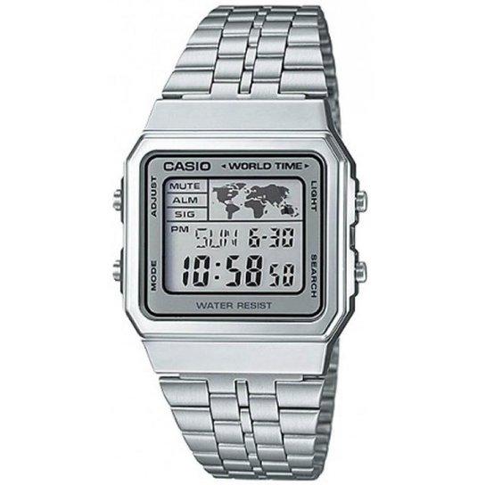 59c6e90056c Relógio Casio Vintage A500WA-7DF - Prata - Compre Agora