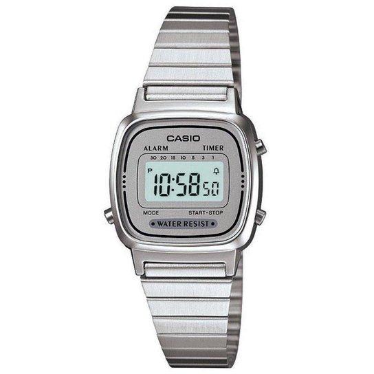 a3d8d1190e5 Relógio Casio Feminino Vintage La670Wa-7Df - Prata - Compre Agora ...