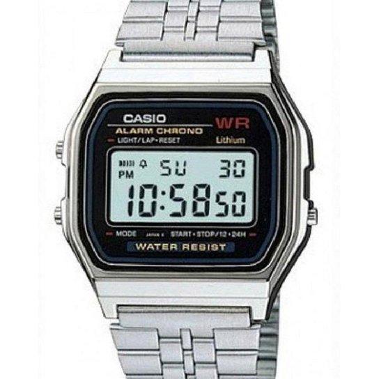 733f8c0fbead9 Relógio Casio Unisex Vintage A159Wa-N1Df - Prata - Compre Agora ...