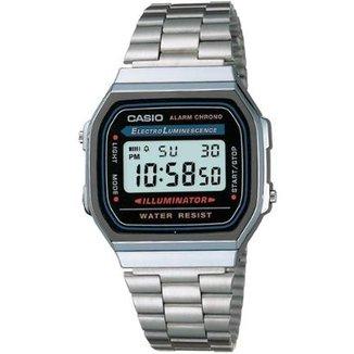 58cecc308f3 Relógio Feminino Casio Vintage Digital Fashion A168wa 1Wdf