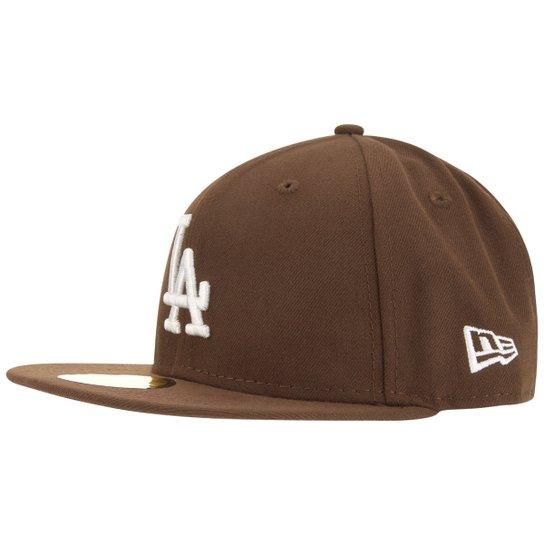 Boné New Era 5950 Los Angeles Dodgers - Marrom e Branco - Compre ... e387860e4e0