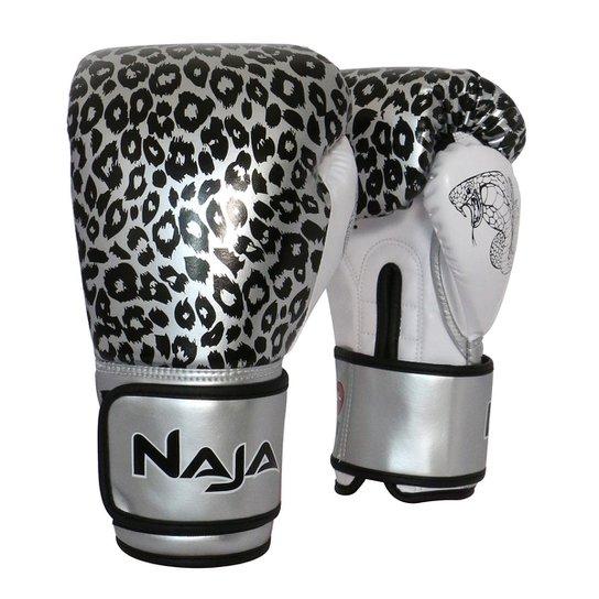 4c280e1d0 Luva de Boxe   Muay Thai Feminina Naja Animal Print Cobra 12 Oz - Prata