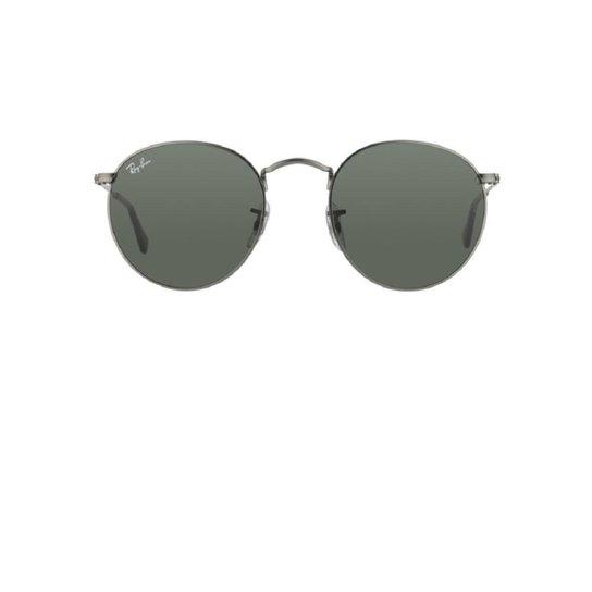 6e46b570eeba9 Ray Ban Round Metal RB3447L 029 Óculos de Sol - Prata - Compre Agora ...