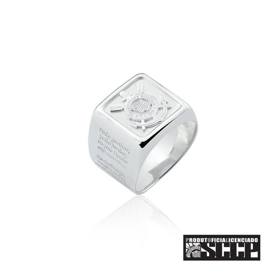 Anel do Corinthians com Escudo Estampado de Prata 925 - Compre Agora ... f6e3acc7a2758