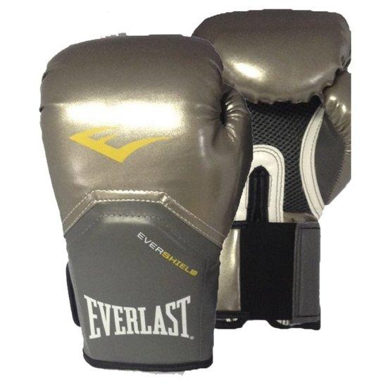 9fbac4d1b240e Luva Everlast Pro Style 12oz - Prata - Compre Agora