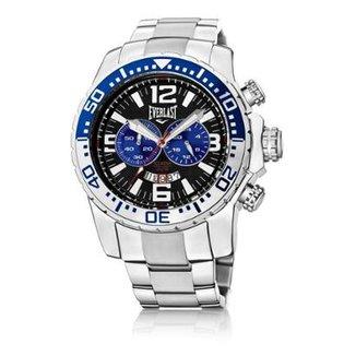 975e841d668 Relógio Everlast Cronógrafo Cx e Pulseira Aço Masculino