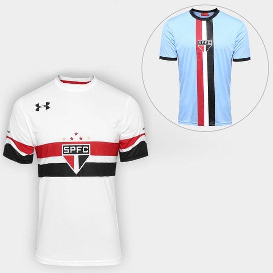 14d51e8231f Kit Camisa Under Armour São Paulo I 16 17 s nº-Torcedor + Camisa São ...