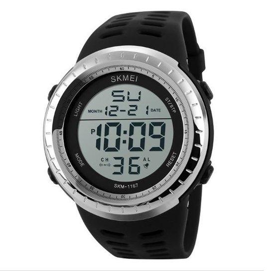 6ad6d8ac8f9 Relógio Skmei Digital 1167 - Prata - Compre Agora