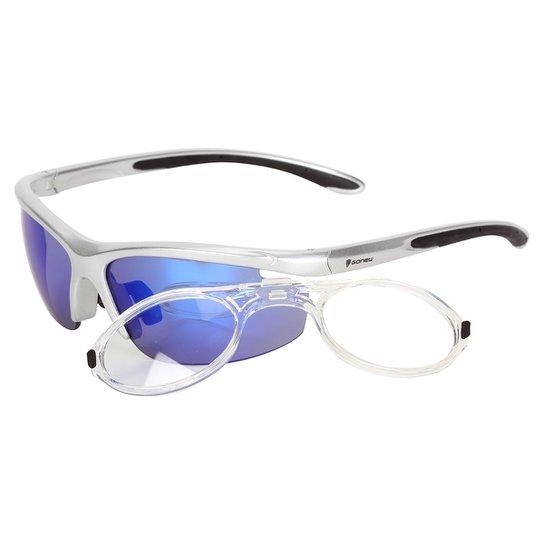 Óculos Gonew Fitter com Clip para Grau Removível - Polarizado - Prata 8876c5b08e