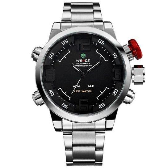 8d2240febab Relógio Weide Anadigi WH-2309B - Prata - Compre Agora