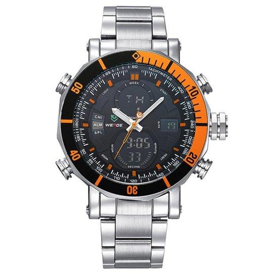 6ec028802c8 Relógio Weide Anadigi WH-5203 - Prata - Compre Agora