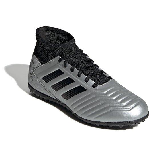 bfee787386 Chuteira Society Infantil Adidas Predator 19 3 TF - Prata