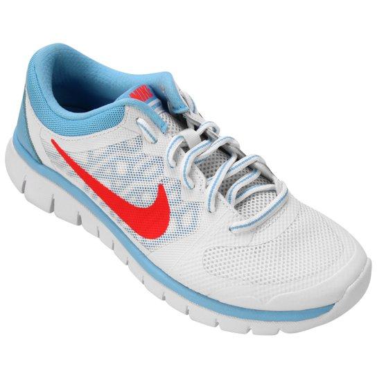9b797a4c359 Tênis Nike Flex 2015 RN Infantil - Branco+Azul Claro