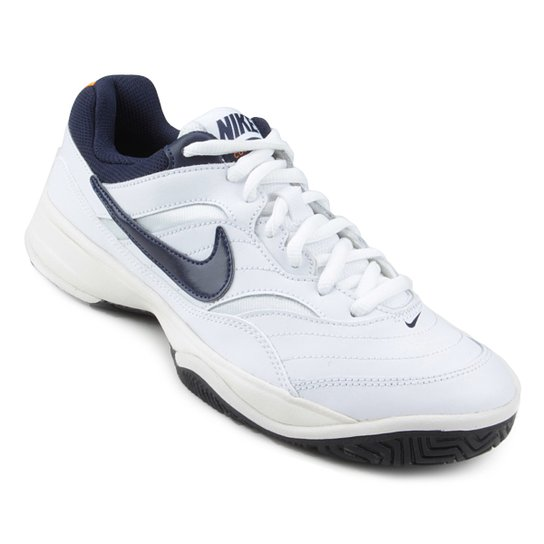 Tênis Nike Court Lite Masculino - Branco e Marinho - Compre Agora ... b2d6e7d0f40e8