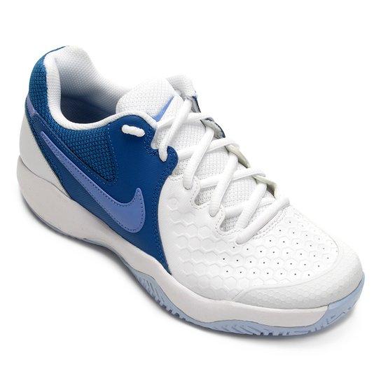 90f35e74c0 Tênis Nike Air Zoom Resistance Feminino - Branco e Azul Claro ...