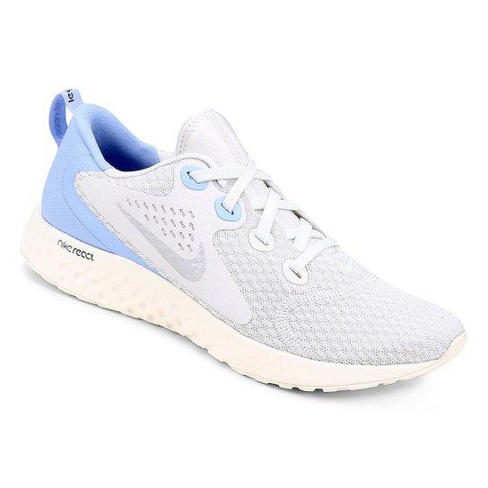 b0dc999338 Tênis Nike Legend React Feminino - Cinza e Azul Claro - Compre Agora ...
