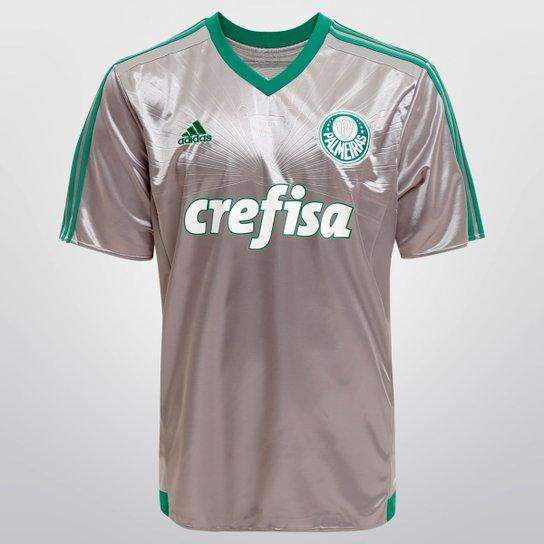 48bf79207 Camisa Palmeiras III 15/16 s/nº Torcedor Adidas Masculina - Prata+Verde