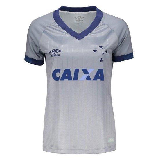 Camisa Umbro Cruzeiro III 2018 Feminina - Prata - Compre Agora ... a7b8bb0637a5c