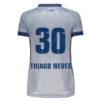 46a3a92b32c45 Camisa Umbro Cruzeiro Nº30 Thiago Neves III 2018 Feminina