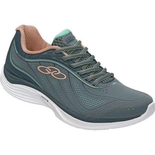 d1bd1b19646 Tênis Olympikus Attract Feminino - Verde e Cinza - Compre Agora ...