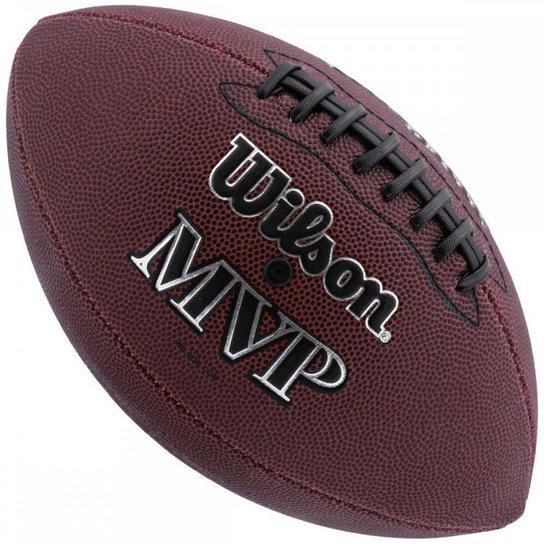 Bola de Futebol Americano WILSON MVP - Medidas Oficiais - Marrom Escuro 7eb0692230d03