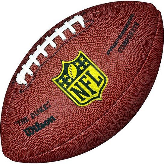 86f420bee300c Bola de Futebol Americano Wilson NFL Duke Pro - Réplica Tamanho Oficial -  Marrom Escuro
