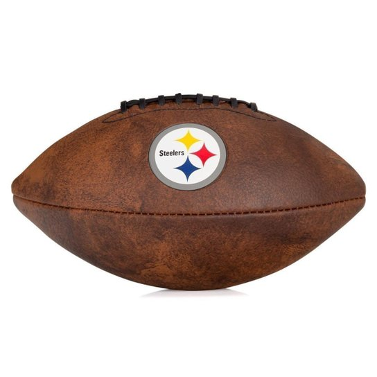 Bola de Futebol Americano Wilson Throwback NFL Jr. Pittsburgh Steelers -  Marrom Escuro 4e6d7ed0bb511