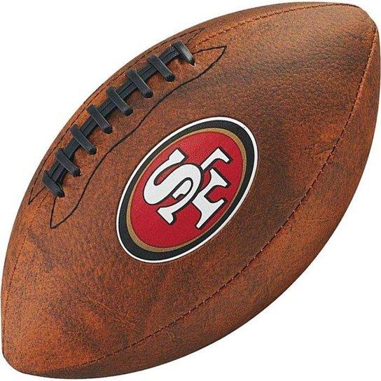 Bola de Futebol Americano Wilson Throwback NFL Jr. San Francisco 49ers -  Marrom Escuro 4f604165cba06