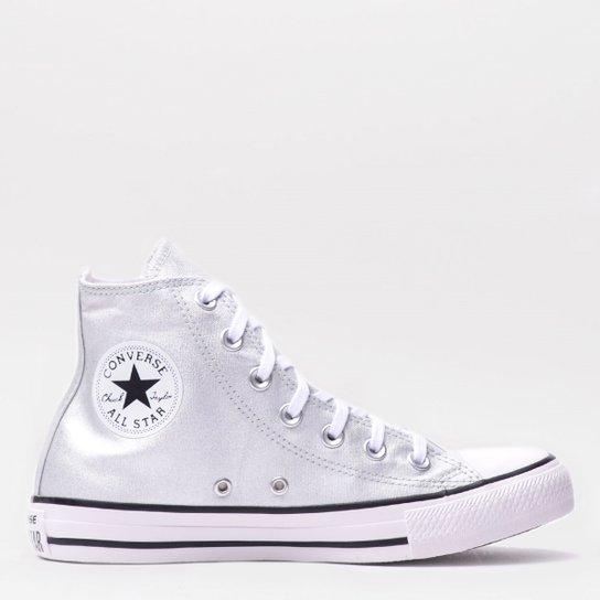 472972d6498 Tênis Converse Chuck Taylor All Star Hi Prata Pur - Compre Agora ...