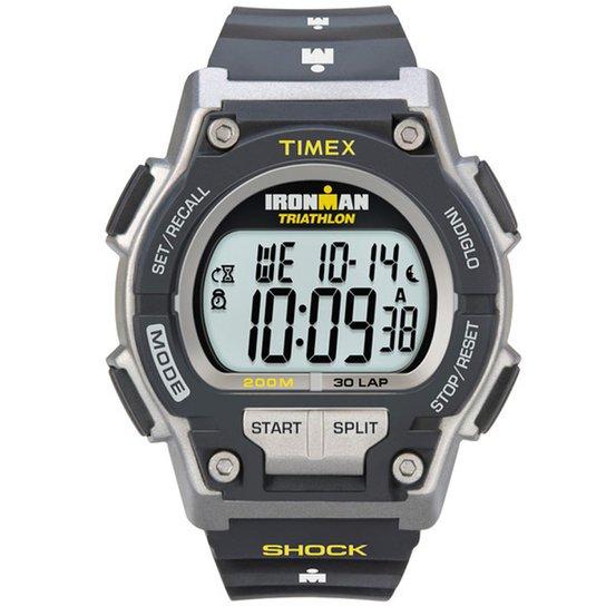 d37ec8d79d5 Relógio Timex Masculino Ironman Shock 30-Lap TI5K19 5 Preto TI5K19 5 ...