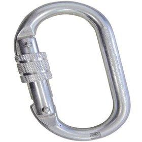 43ab732019d Mosquetão Oval aço Ultra Safe rosca 25kn