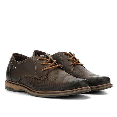 Sapato Couro Casual Pegada Com Perfuros Masculino