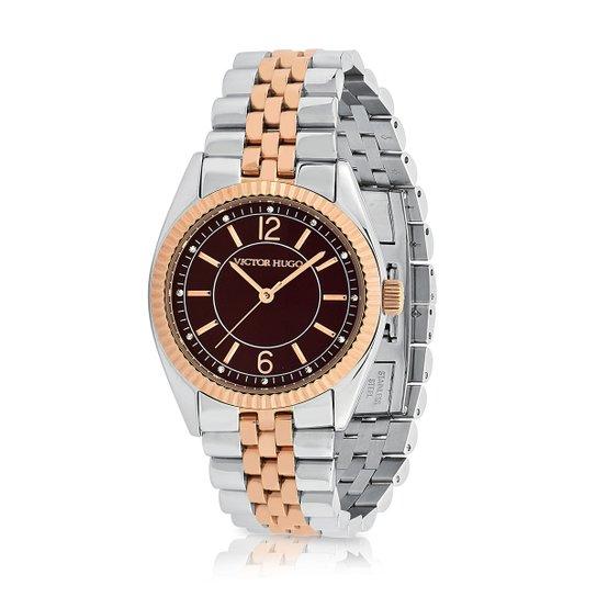 75040d42d Relógio Victor Hugo 10156LSSR/12M - Prata | Netshoes