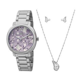 c618ea6fa16 Kit Relógio Allora Feminino Asa de Borboleta