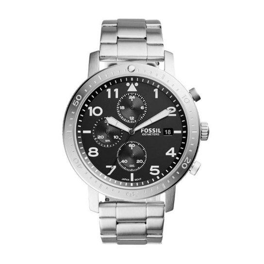 3de4e5fadd5 Relógio Masculino Fossil CH3082 1PN 46mm Pulseira Aço Prata - Prata ...