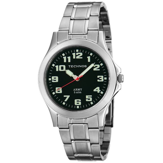 b1e567f1a4596 Relógio Technos Steel - Prata - Compre Agora