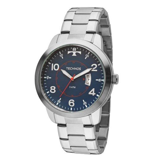b34062a6331 Relógio Technos Masculino 2115KTM1A - Prata - Compre Agora