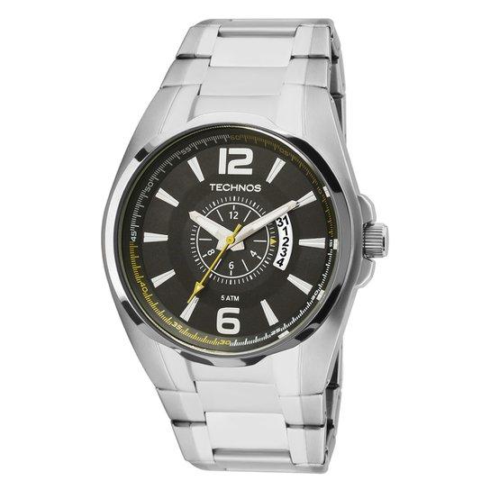 660bf6197 Relógio Technos Masculino 2115KTC1P - Prata - Compre Agora