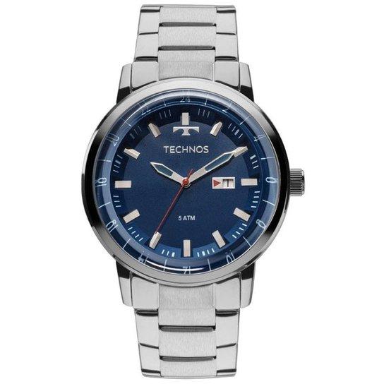 Relógio Technos Masculino 2115LAO 1A - Prata - Compre Agora   Netshoes b8321d03e5