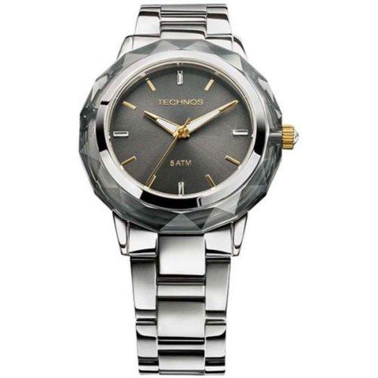 04d61e94b0c Relógio Feminino Technos Crystal 2035MCL 1C 38mm Aço Prata - Compre ...