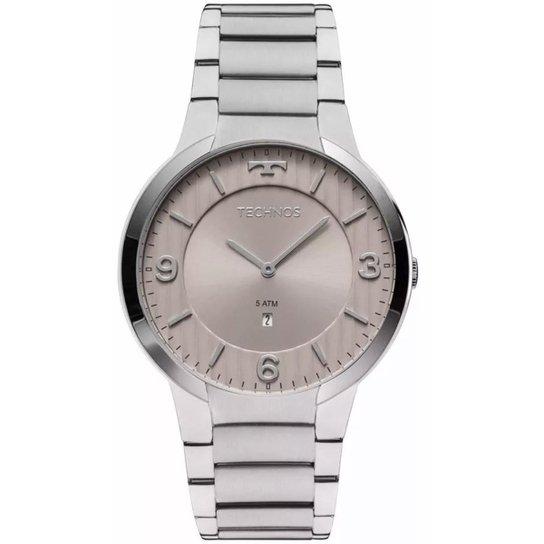 6269a7e8f90 Relógio Technos Slim GL15AO 1C 42mm Aço Prata - Prata - Compre Agora ...