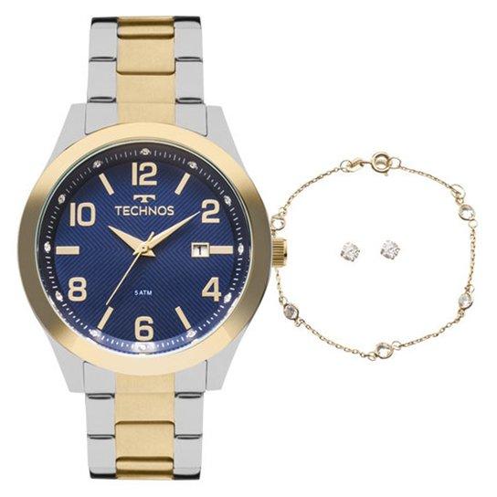 6ddb07e5cb8 Kit Relógio Technos 2115Kzu K5a Feminino - Compre Agora