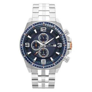 3117fed7179 Relógio Masculino Technos Skymast JS15FD 1A 50mm Aço Prata