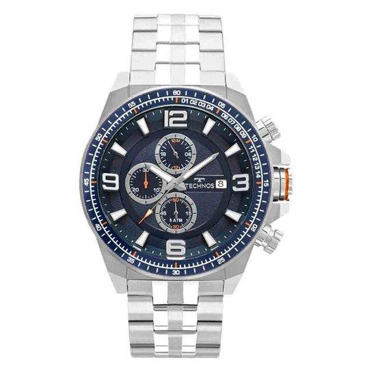 da165895897 Relógio Masculino Technos Skymast JS15FD 1A 50mm Aço Prata - Prata ...