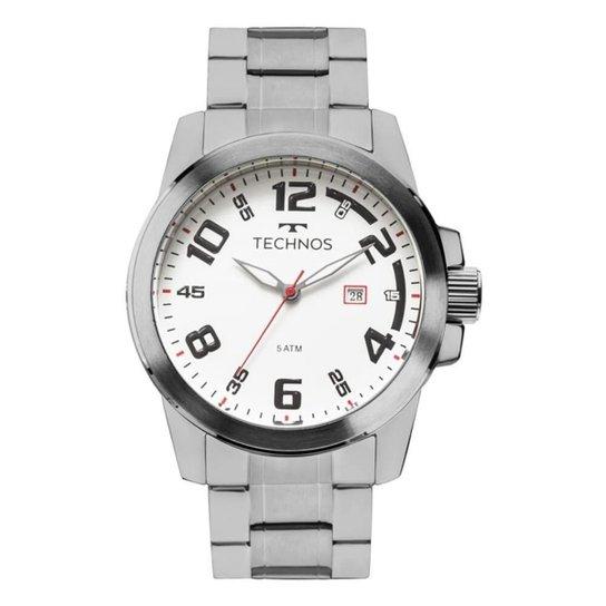 14ad702968 Relógio Technos Racer Masculino 2115MGR 1B - Prata - Compre Agora ...
