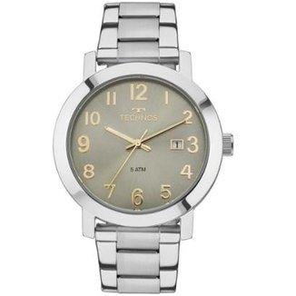 f2bd4c3998b Relógio Feminino Technos Dress 2115MNE 4V Pulseira Aço Prata