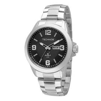 52153071257c2 Relógio Masculino Technos 2305AN 1P Pulseira Aço Prata